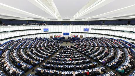 The Hemicycle of the European Parliament. Wikimedia/David Iliff. Some rights reserved.