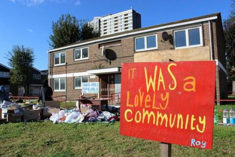 Eviction of the Focus E15 Mums. Flickr/Liam Barrington-Bush. Some rights reserved.