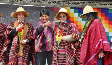 Evo Morales and Alvaro Join Solstice event in 2013.jpg