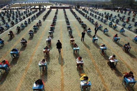 Exams being taken in China. Aslan Media/Flickr. Some rights reserved.