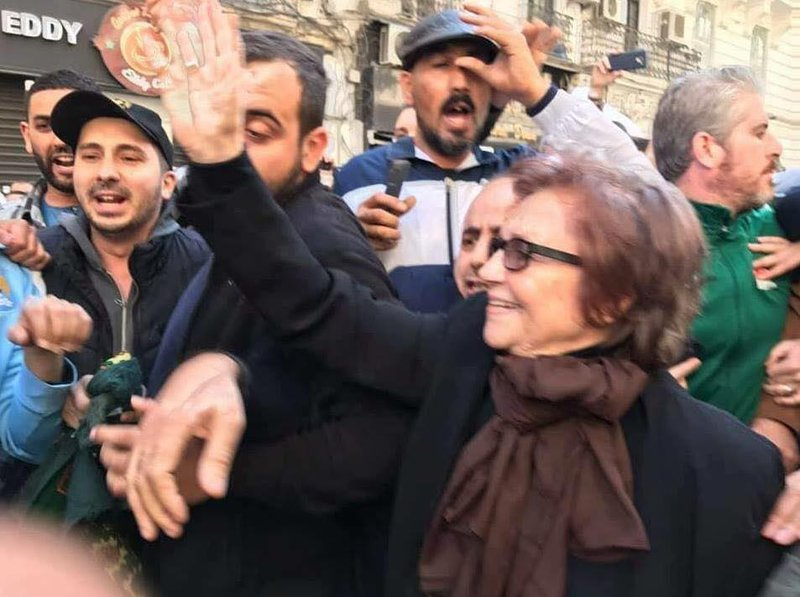 Figure 1 Djamila Bouhired Joining Algerian protestors on 1 March 2019.jpg