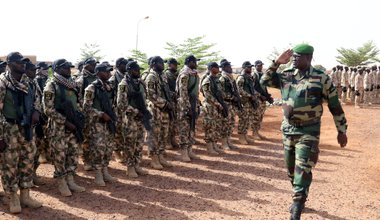 Nigerian soldiers in Exercise Flintlock