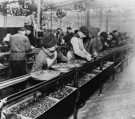 The Ford assembly line, 1913. Wikicommons. Some rights reserved.