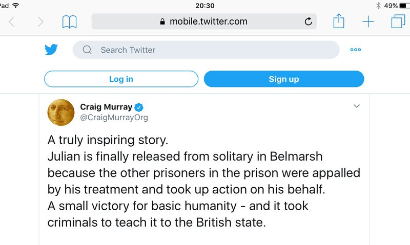 Craig Murray tweet