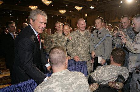 George W. Bush discusses war on terror
