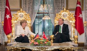 German Chancellor Angela Merkel visits Turkey.