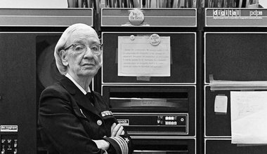 Grace Murray Hopper, in her office in Washington DC, 1978, ©Lynn Gilbert