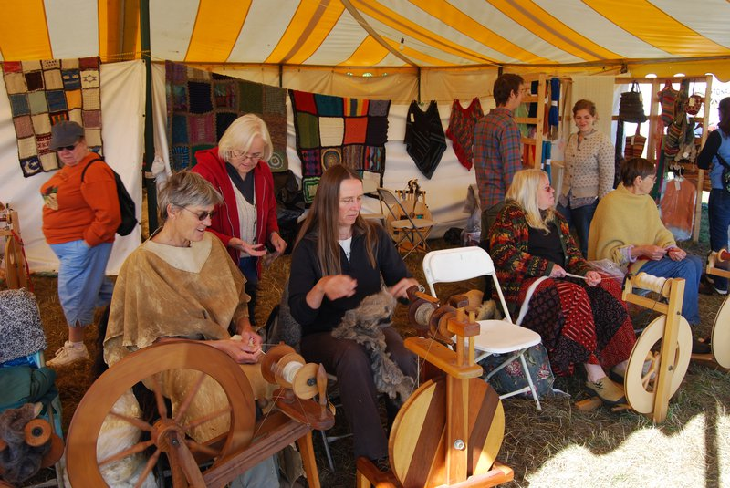 Handmaking cloth (taking back control over basic needs), Common Ground Fair Unity (Maine), Sept 2008 @ Ashish Kothari.jpg