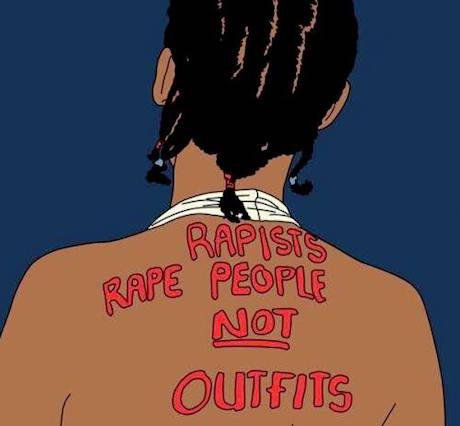 """Rapists rape people not outfits"" #RememberKhwezi. Photo: Holaa! Africa"