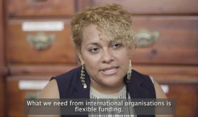 Denia Castillo, coordinator of Red De Abogadas Defensoras de Derechos Humanos (Network of Human Rights Defenders), in a still from a video about human rights activists in Honduras