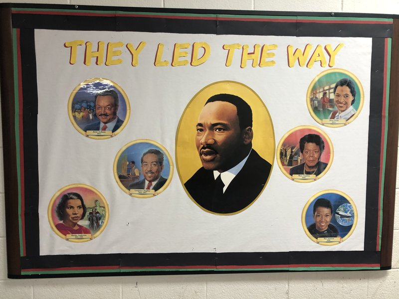 A picture displayed in a community centre polling location, Pittsburgh, south Atlanta