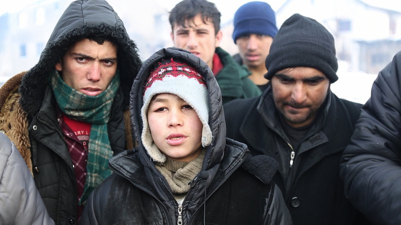 """""""I am waiting to play the game, to cross this last border to Europe"""" 11-year old Abuzar told me."""