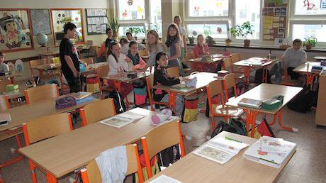 Teaching in Slovakia. Author's own photograph. All rights served.