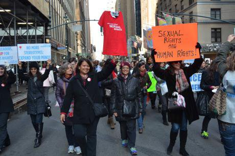 International Women's Day 2015 in New York City.