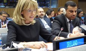 Ireland's ambassador Patricia O'Brien at UN