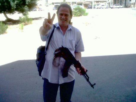 James Pryor with AK 47 in Libya.jpg
