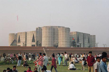 Parliament of Bangladesh, Dhaka. Credit: Wikimedia/Micah Parker. Some rights reserved.