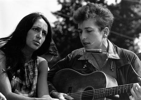 Joan Baez and Bob Dylan, Civil Rights March on Washington, D.C., 1963. Wikimedia / Rowland Scherman. Some rights reserved.