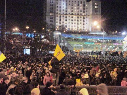 Orange revolution in Kiev