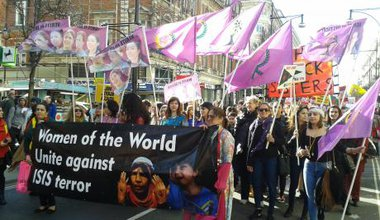 Kurdish Women Against ISIS IWD 2015 Isabel Marler.jpg