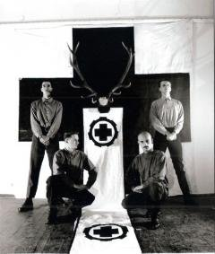 Press photo of Laibach in 1983.