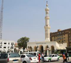 Mosque and street scene