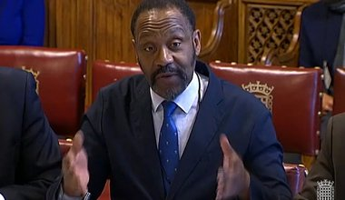 Lenny Henry giving evidence to Lords committee 2019