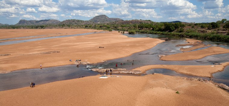 Lurio river, Mozambique. Concerns have been raised about the impact of the proposed LNG development on local air and water pollution