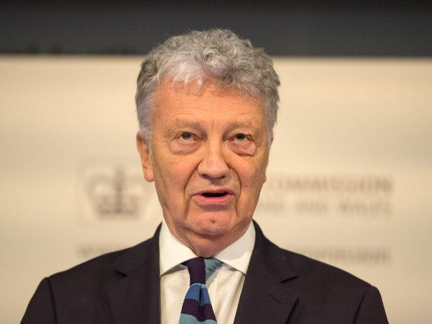 Chair of the Charity Commission William Shawcross at the Charity Commission Annual Public Meeting at the Royal Institution in central London, 23 January 2018