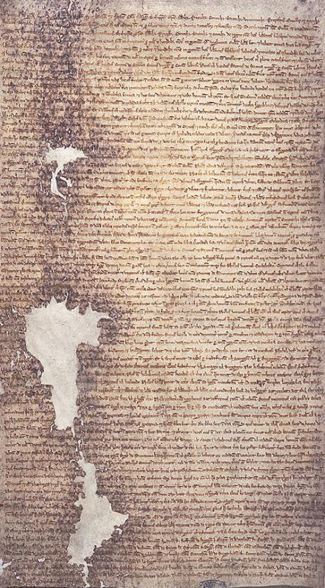 The 1225 version of Magna Carta issued by Henry III of England.