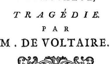 Frontispiece of the 1753 edition of Voltaire's play, Mahomet.