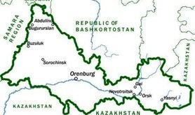 Orenburg region's borders