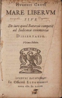 Rare book cover for Mare Liberum