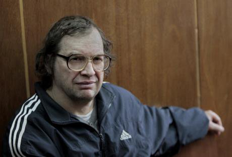 Sergei Mavrodi, founder of MMM in court in 2012 for failing to pay a 1000-rouble fine.