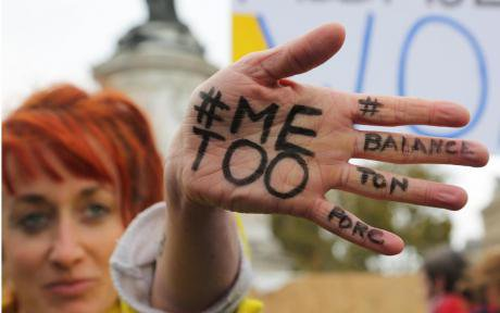 #MeToo protest against gender-based and sexual violence in Paris, October 2017.