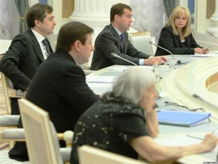 Medvedev meeting human rights activists