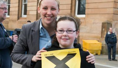20-year-old Mhairi Black MP.
