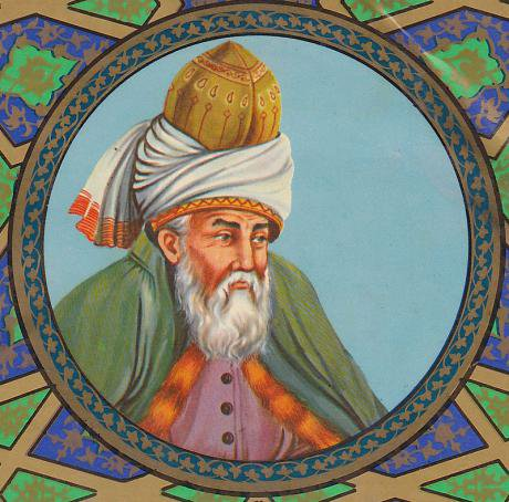 An artist's impression of Rumi. Wikimedia/Molavi. Public domain.