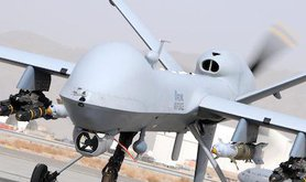 RAF MQ-9 Reaper, Afghanistan. Wikimedia Commons/Steve Follow. Some rights reserved.