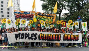 NYC climate march. Demotix/Andre Spatz. All rights reserved.