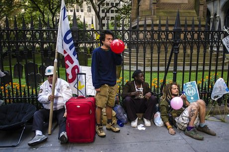 OWS protesters mark one year anniversary of the movement. Demotix/Scot Surbeck. All rights reserved.