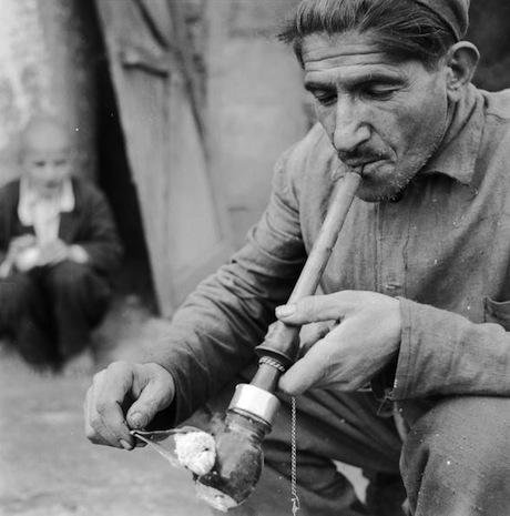 Opium Smoker, 1950s Iran. Getty Images / Three Lions. All rights reserved.