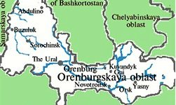 Orenburg region map