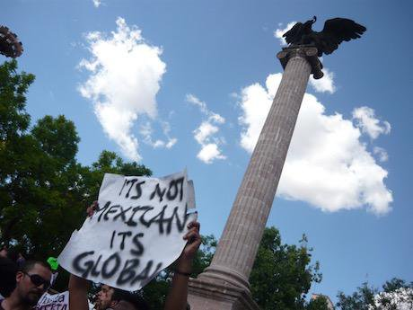 #YoSoy132 Aguascalientes, 7 July 2012. Photo courtesy of the author.