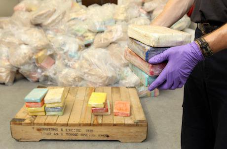 Cocaine seizure, Southampton docks, 2011. Dominic Lipinski/PA Archive/PA Images. All rights reserved.