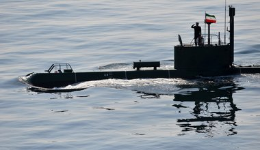 Iranian submarine in the Strait of Hormuz, 2012