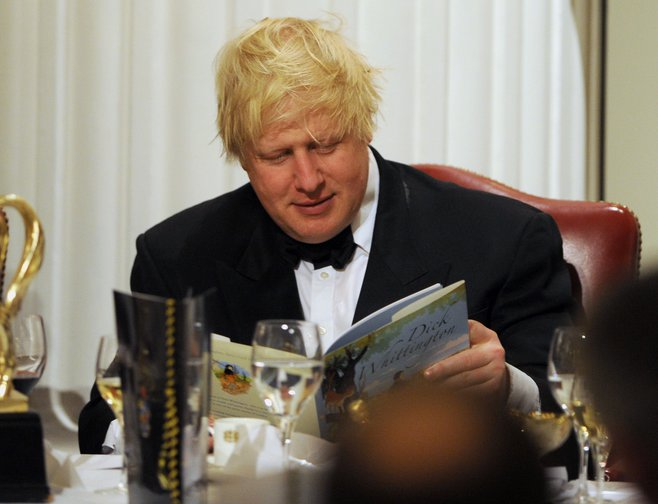 Boris Johnson in black tie