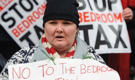Bedroom tax protest 2013
