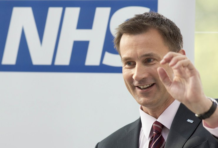 Jeremy Hunt delivering a speech at the Evelina London Children's Hospital in 2013.