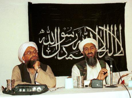 Ayman al-Zawahri and Osama bin Laden, 1998. Mazhar Ali Khan/AP/Press Association Images. All rights reserved.
